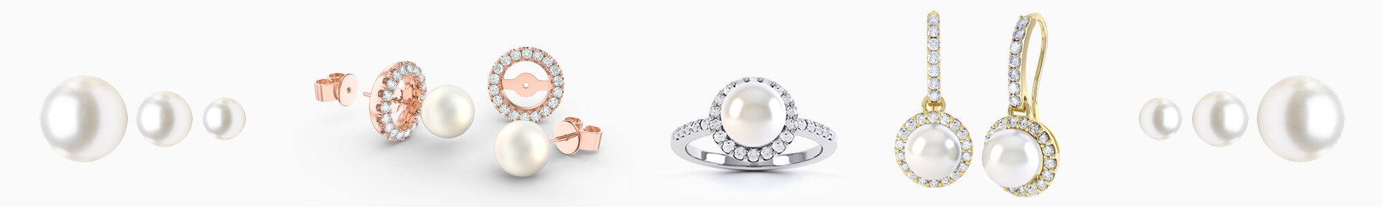 Pearl Jewellery - Freshwater Pearl Necklaces, Earrings, Studs, Drops, Pendants, Engagement Rings and Bracelets