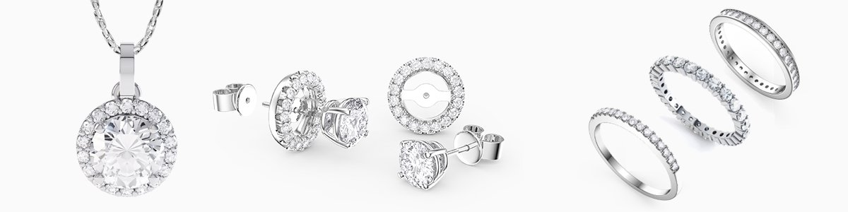 Diamond Jewellery - from Earrings studs and drops to Pendants to Engagement Rings to Bracelets