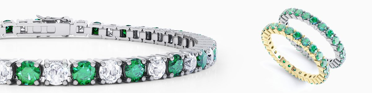 Emerald Jewellery - Emerald Earrings, studs and drops to Emerald Pendants, Engagement Rings and Bracelets