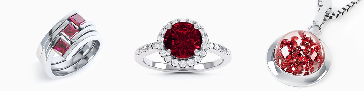 Garnet Jewellery - from Earrings studs and drops to Pendants to Engagement Rings
