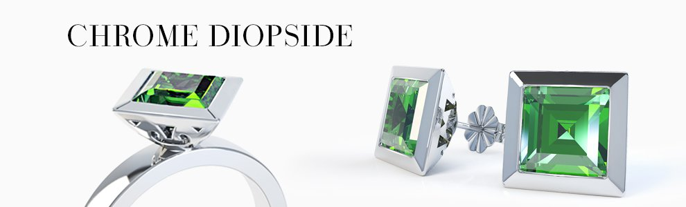 Chrome Diopside Jewellery - from Earrings drops to Pendants to Rings