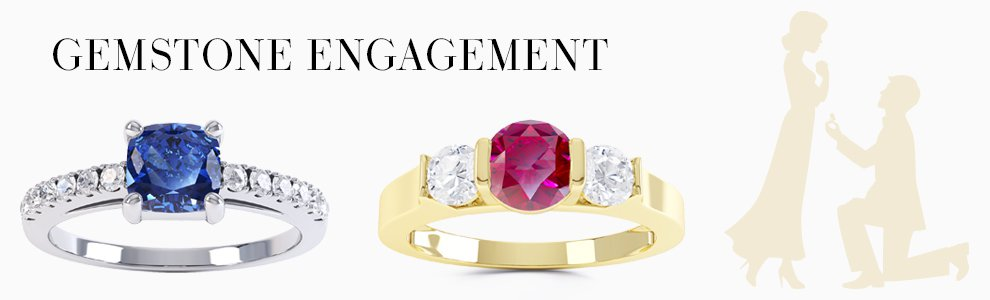Gemstone Engagement Rings - Precious Gemstones to Birthstones to Diamonds set in Silver or 18ct Gold or Platinum.