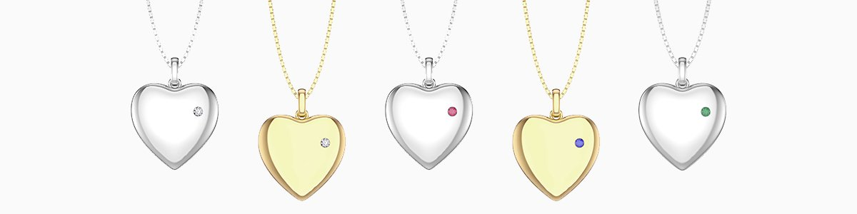 Lockets by Jian London. From Silver to 18ct Gold.