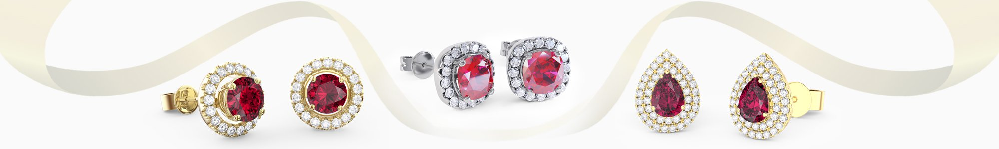 Shop Ruby Earrings by Jian London. Buy direct and save from our wide selection of Ruby Earrings at the Jian London jewellery Store. Free UK Delivery