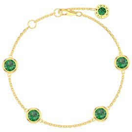 Emerald By the Yard 18ct Gold Vermeil Bracelet