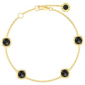 Onyx By the Yard 18ct Gold Vermeil Bracelet