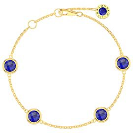 Sapphire By the Yard 18ct Gold Vermeil Bracelet