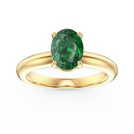 Unity 1.25ct Oval Emerald Solitaire 18ct Yellow Gold Proposal Ring