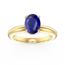 Unity 1.25ct Oval Blue Sapphire Solitaire 18ct Yellow Gold Proposal Ring