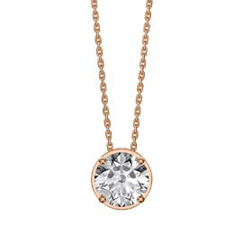 Infinity 1.0ct Solitaire White Sapphire 18ct Rose Gold Vermeil Pendant