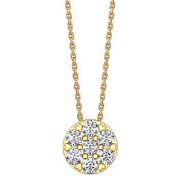 Infinity Pave White Sapphire Halo 18ct Gold Vermeil Pendant