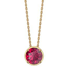 Infinity 1.0ct Solitaire Ruby 18ct Gold Vermeil Pendant