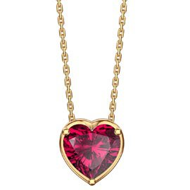 Infinity 1.0ct Heart Solitaire Ruby 18ct Gold Vermeil Pendant