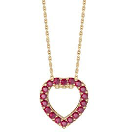 Infinity Heart Ruby Halo 18ct Gold Vermeil Pendant