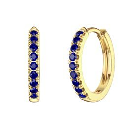 Charmisma Blue Sapphire 18ct Gold Vermeil Hoop Earrings
