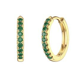 Charmisma Emerald 18ct Gold Vermeil Hoop Earrings
