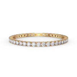 Eternity 10ct Diamond CZ 18ct Gold plated Silver Tennis Bracelet