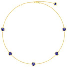 Sapphire By the Yard 18ct Gold Vermeil Choker Necklace