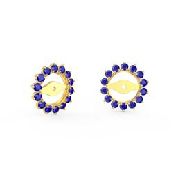 Fusion Sapphire 18ct Gold Vermeil Gemburst Halo Earring Jackets