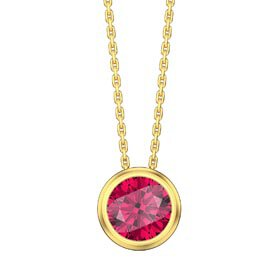 Infinity 1.0ct Ruby Solitaire 18ct Gold Vermeil Bezel Pendant
