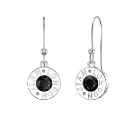 Charmisma Onyx Platinum plated Silver Dainty Drop Earrings