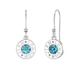 Charmisma Topaz Platinum plated Silver Dainty Drop Earrings