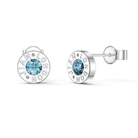 Charmisma Topaz Platinum plated Silver Dainty Stud Earrings