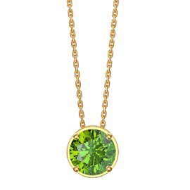 Eternity 1.0ct Solitaire Peridot 18ct Gold VermeilPendant