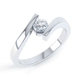 Combinations Diamond 18ct White Gold Round Engagement Ring