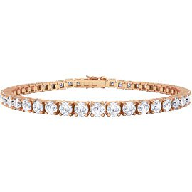 Eternity White Sapphire 18ct Rose Gold Vermeil Tennis Bracelet