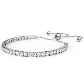Eternity Diamond CZ Rhodium plated Silver Fiji Friendship Tennis Bracelet