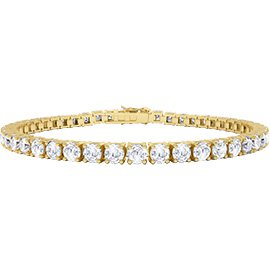 Eternity 5.2ct GH SI Diamond 18ct Gold Tennis Bracelet