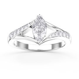 Unity 0.65ct Marquise Diamond 18ct White Gold Engagement Ring