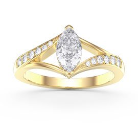 Unity 0.65ct Marquise Diamond 18ct Yellow Gold Engagement Ring