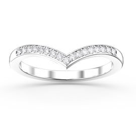 Unity Wishbone Diamond 18ct White Gold Wedding Ring