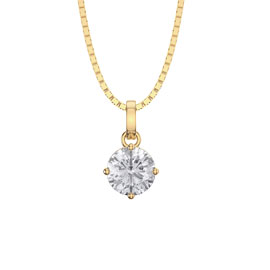 Charmisma 1.0ct White Sapphire 18ct Yellow Gold Pendant
