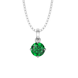 Charmisma 1.0ct Emerald 18ct White Gold Pendant