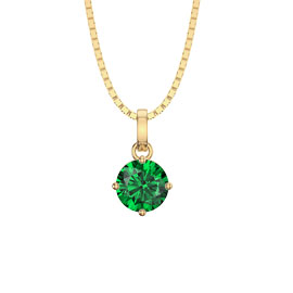 Charmisma 1.0ct Emerald 18ct Yellow Gold Pendant