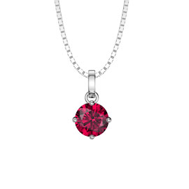 Charmisma 1.0ct Ruby 18ct White Gold Pendant