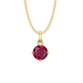 Charmisma 1.0ct Ruby 18ct Yellow Gold Pendant