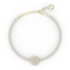 Fusion White Sapphire 18ct Yellow Gold Tennis Bracelet