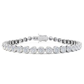 Infinity Diamond CZ Rhodium plated Silver Tennis Bracelet