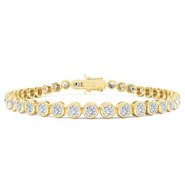 Infinity Diamond CZ 18ct Gold finished Tennis Bracelet