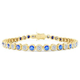 Infinity Blue and White Sapphire 18ct Gold Vermeil Tennis Bracelet