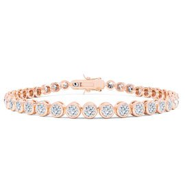 Infinity Diamond CZ 18ct Rose Gold Vermeil Tennis Bracelet