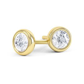 Infinity White Sapphire 18ct Gold Vermeil Stud Earrings