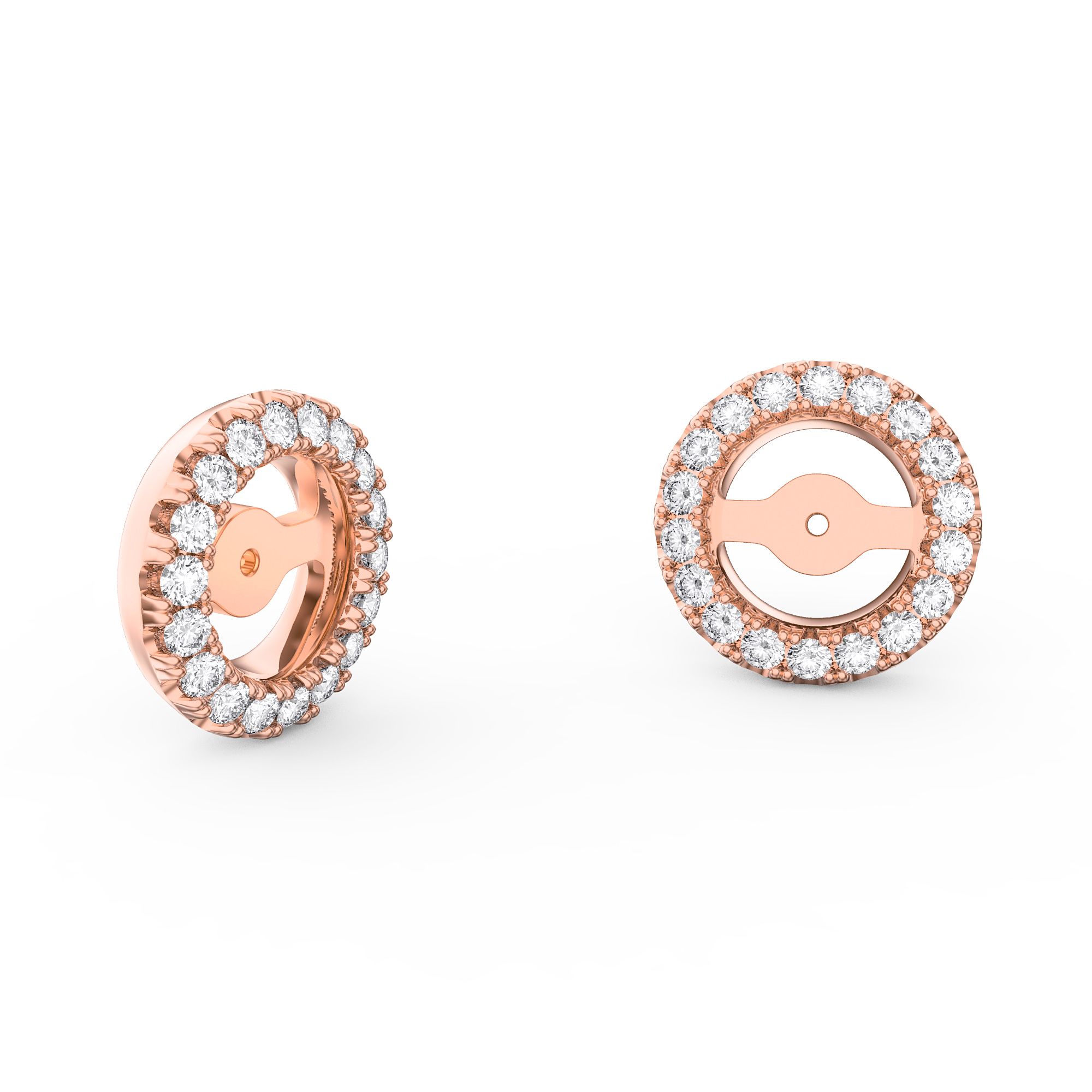 orogem moonshine diamond en halo moonstone earrings product