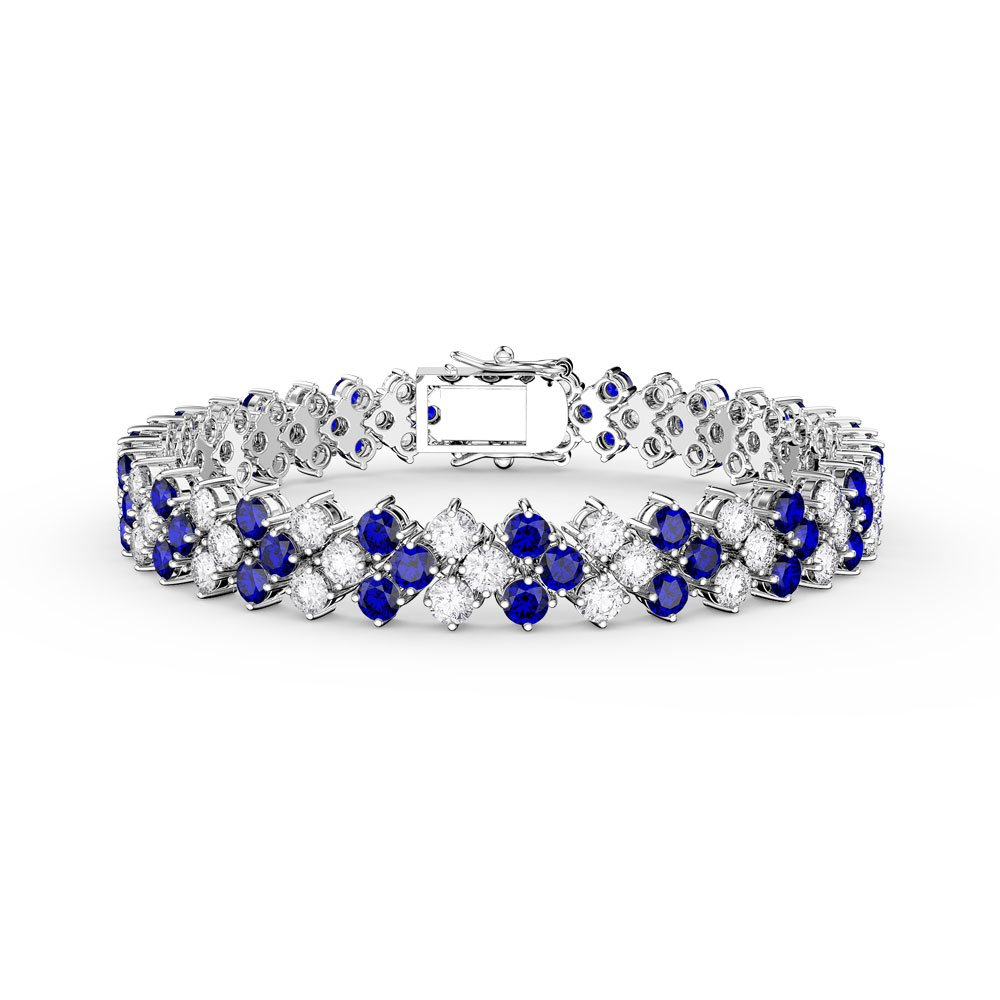 uk white diamond silver gold eternity tennis and bracelet sapphire