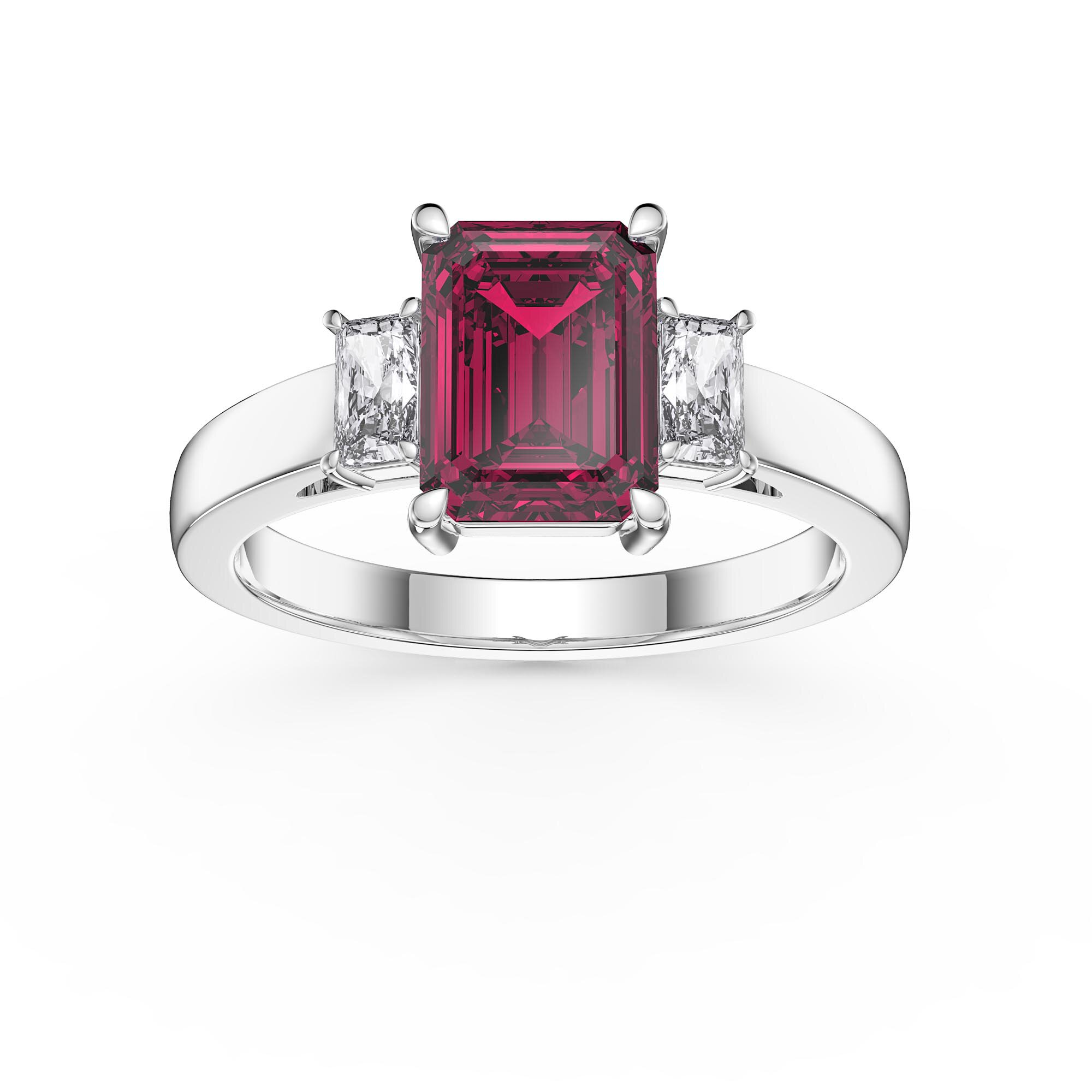 Details about  /2.5 ct Princess Cut Ruby Stone Wedding Bridal Promise Ring 14k Rose Gold