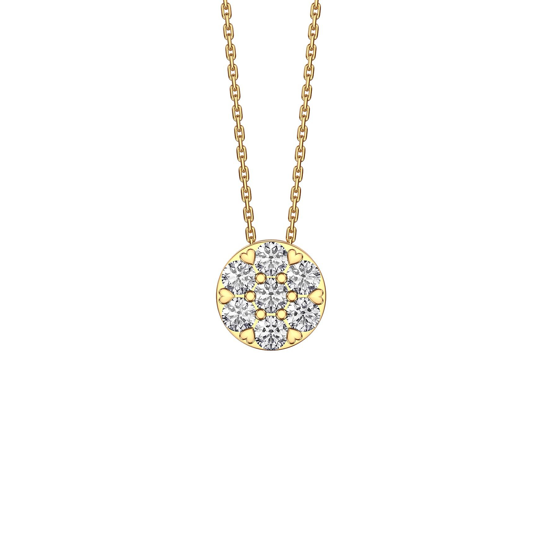 5fa98190f01521 Infinity Pave White Sapphire Halo 18ct Gold Vermeil Pendant. Tap to expand